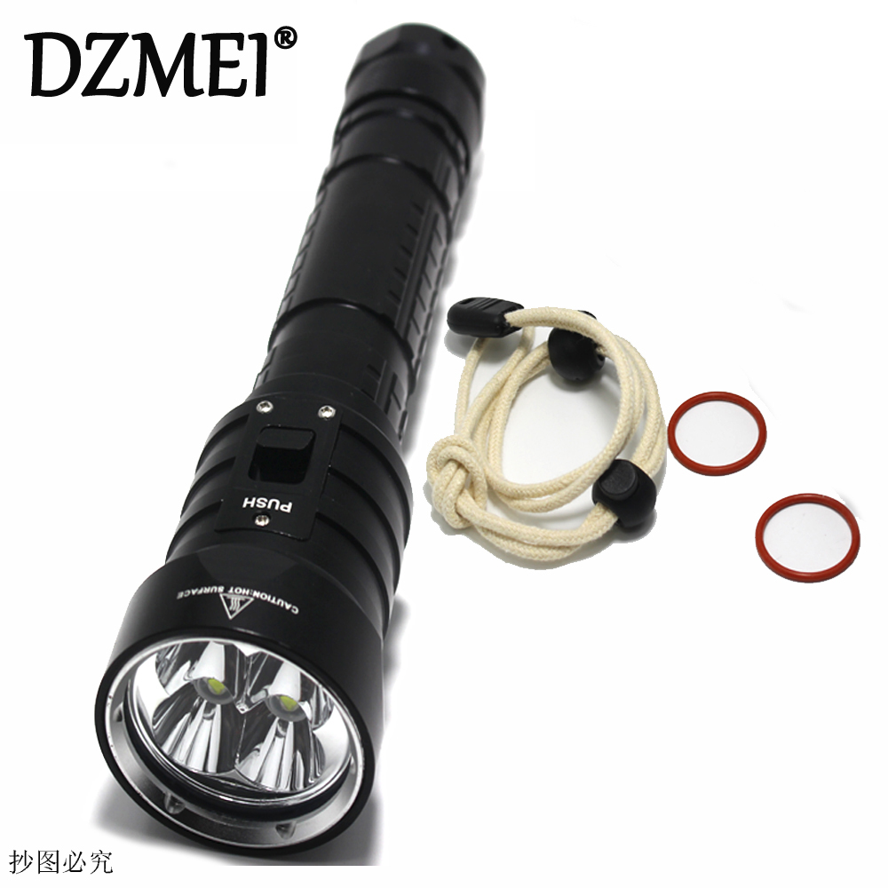 DX4S LED Diving Flashlight 4x CREE L2 4L2 Underwater 18650 26650 Torch Brightness Waterproof 100m Light Led Torch