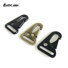 wholesale Olecranon Shape Tactical Molle Carabiner Hook Buckles With Key Ring Hanging Belt Buckle Outdoor tool Hiking Travel Kit