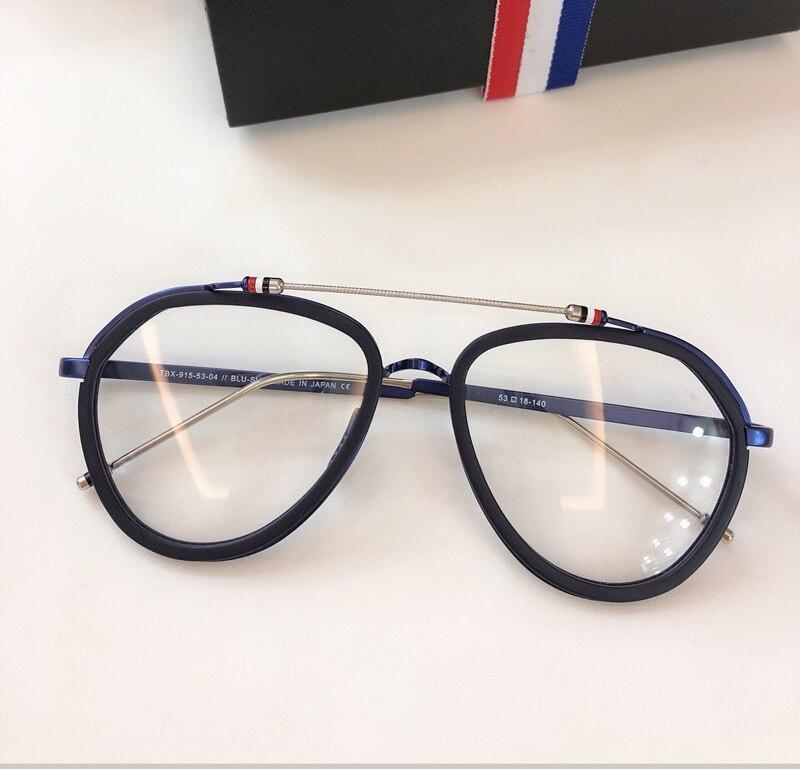 New York Vintage optique thom lunettes cadre hommes femmes ordinateur myopie lunettes de vue lunettes cadre femmes femme avec boîte - 4