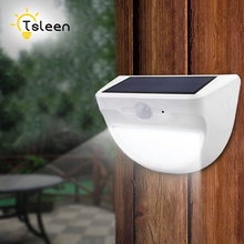 TSLEEN Luminaria Solar Powered Outdoor Led Light 24 37 46 LEDs Waterproof PIR Motion Sensor Path Wall Home Garden Security Lamp