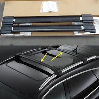 Black Aluminum Cross Bar Roof Cargo Luggage Rack For Cadillac SRX 2010-2013