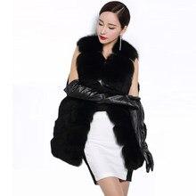 2018 nuevo invierno Faux Chaleco de piel de mapache mujeres largo chaleco  peludo Fox largo grueso Chaleco de piel abrigo de gran. cce4580248c5