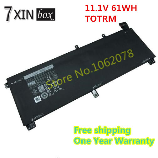 ФОТО 11.1V 61WH TOTRM Battery For Dell Precision M3800 Series XPS 15 9530 Series H76MV OH76MV Y758W CN-0T0TRM