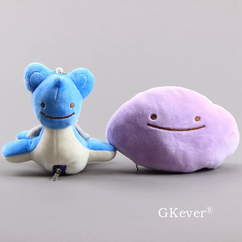 Anime Ditto Changes To Lapras Plush Toy Soft Stuffed Dolls 6