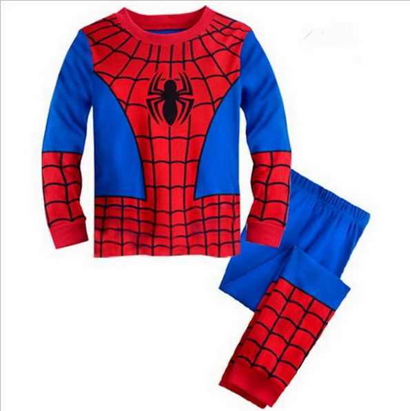 04abe3fcd3 Drop Shipping boys girls pijamas cotton children pyjamas sleepwear baby  kids pajama set spider man toddler