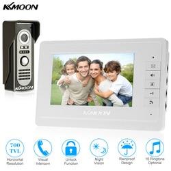 KKmoon 7'' TFT LCD Wired Video Door Phone System Visual Intercom Doorbell 800x480 Indoor Monitor 700TVL Outdoor Infrared Camera