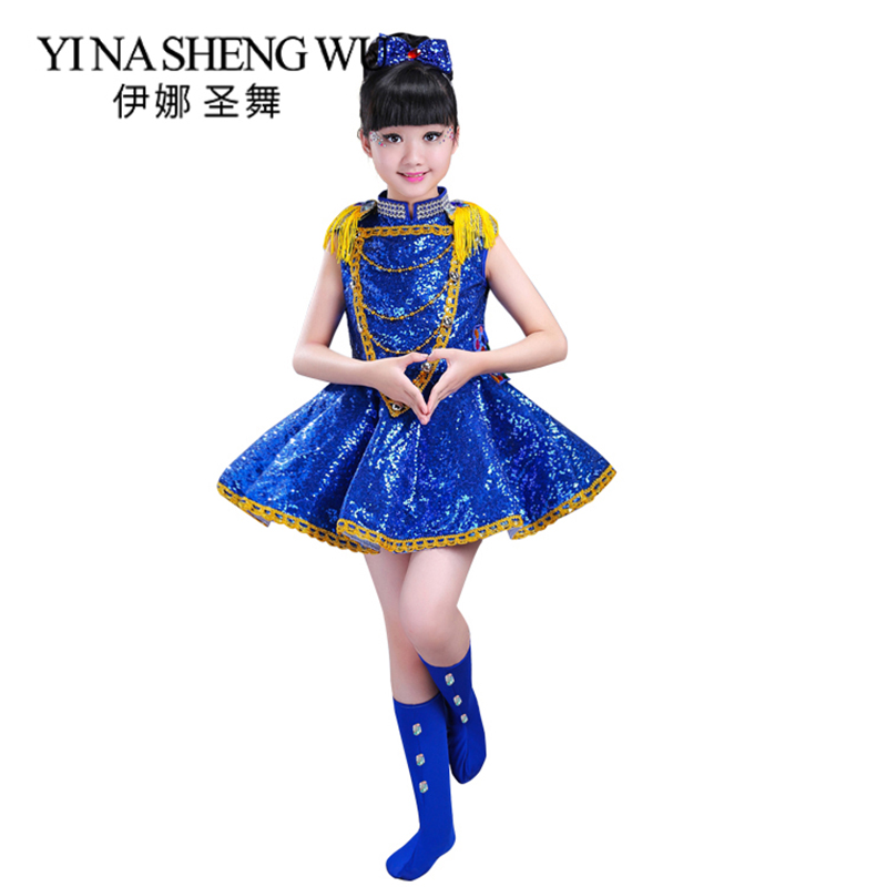 New Children Jazz Dance Costume Sequin Girl Skirt Fringed Sequin Drum Stage Performance Clothes Girls Boys Jazz Dance Costumes