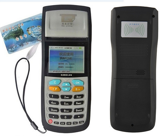 NFC IC Card RFID Reader Android Barcode Scanner Terminal Wireless Handheld Parking Ticket Handheld POS Terminal
