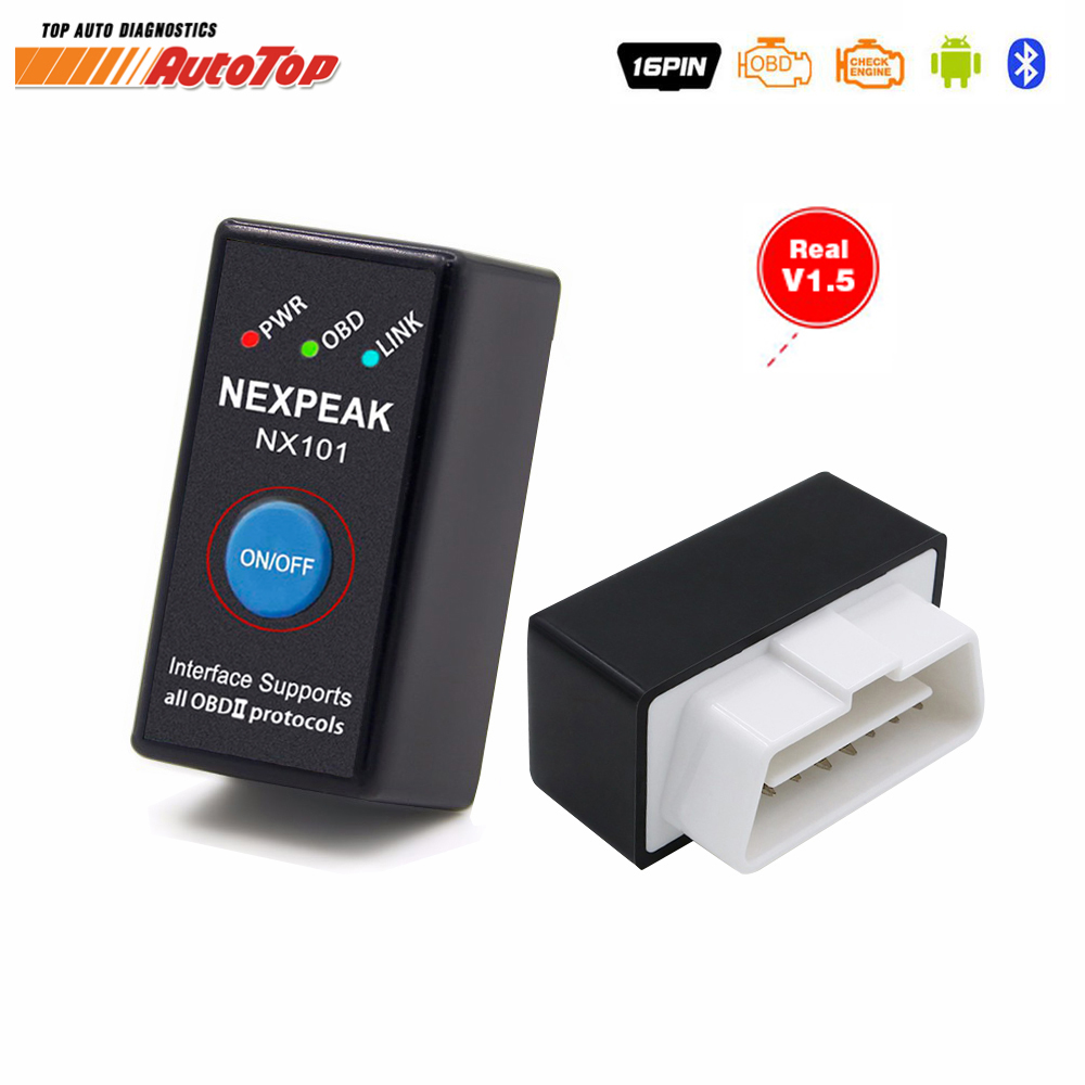 OBD2 EML327 V1.5 Car Diagnostic Tool Mini Bluetooth Adapter ELM327 OBDII Auto Diagnostic Tool Car Diagnostic Scanner for Android launch easydiag 2 0 plus automotive obd2 diagnostic tool obdii bluetooth adapter scanner for ios android