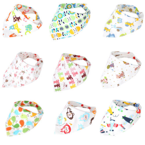1pcs Kids Baby Feeding Head Scarf Towel Bib Boy Girls Bandana Saliva Triangle Dribble Newborn Triangle Head Scarf baby bibs
