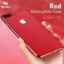 Benks Galvanoplastie Bord Anti-drop Effacer Transparent Cas pour l'iphone 7/7 plus Smartphone Durable Doux Couvre pour iPhone7 Plus