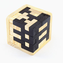 Fidget magic Cube Desk wooden Puzzles Toys & Magic Cube Anti gift Stress Reliever Puzzle Magic Cube With Box Fun Stress Reliever
