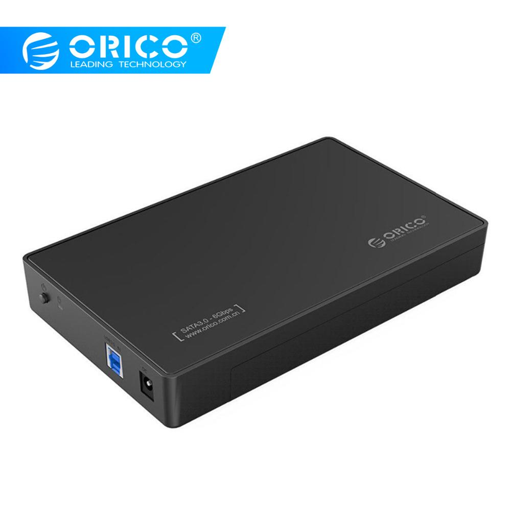ORICO 3.5 Inch HDD Case USB 3.0 5Gbps to SATA Support UASP and 8TB Drives Designed for Notebook Desktop PC Hard Drive Enclosure