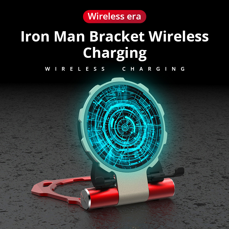 Image 4 - Metal Iron Man Wireless Charger For Samsung S9 S8 iPhone Xs/8plus/X Fold Phone Stand Wireless Charging Bracket For Huawei Xiaomi-in Mobile Phone Chargers from Cellphones & Telecommunications