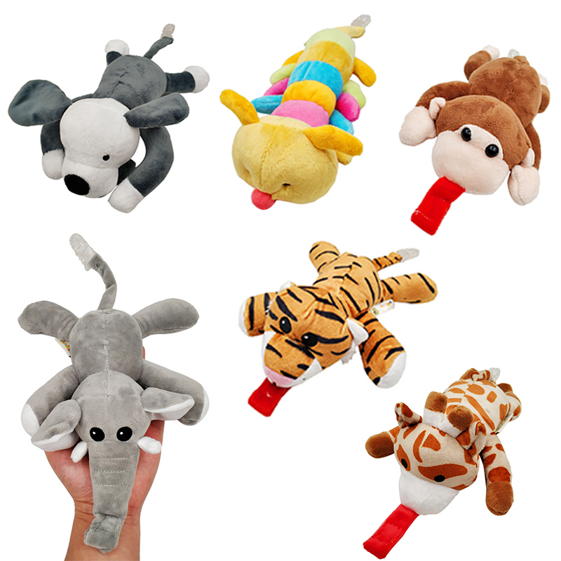 1Pc Cute Baby Cartoon Dummy Pacifier Chain Clips Newborn Plush Animal Toys Toddler Soother Nipples Holder Feeding Accessories