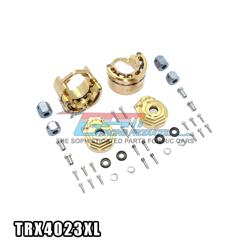 BRASS EXTREME HEAVY EDITION PENDULUM WHEEL KNUCKLE AXLE WEIGHT for 1/10 traxxas trx4 crawler car traxxas trx 4 trx4 82056 4 pure copper pendulum wheels knuckle axle rotary type weight 21mm hex adapter set trx4023xx