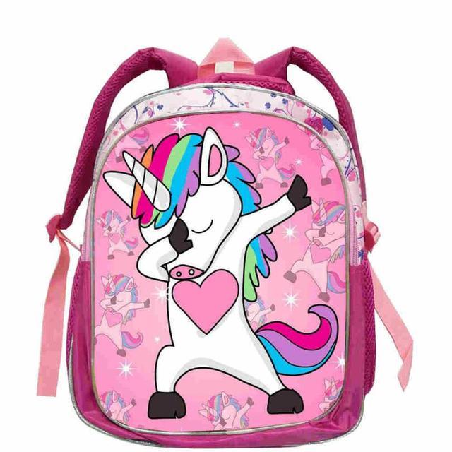 2019 12-inch Unicorn Panda Printing Backpacks For Adolescent Girls School Laptop Mochila Knapsack Leisure Daily Rucksack Knaspac