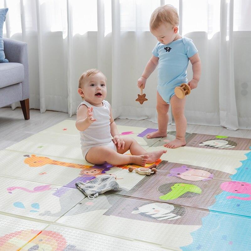 Haute qualité XPE pliable infantile bébé pliant tapis de jeu enfant ramper tapis imperméable antidérapant tapis de jeu bébé tapis - 2