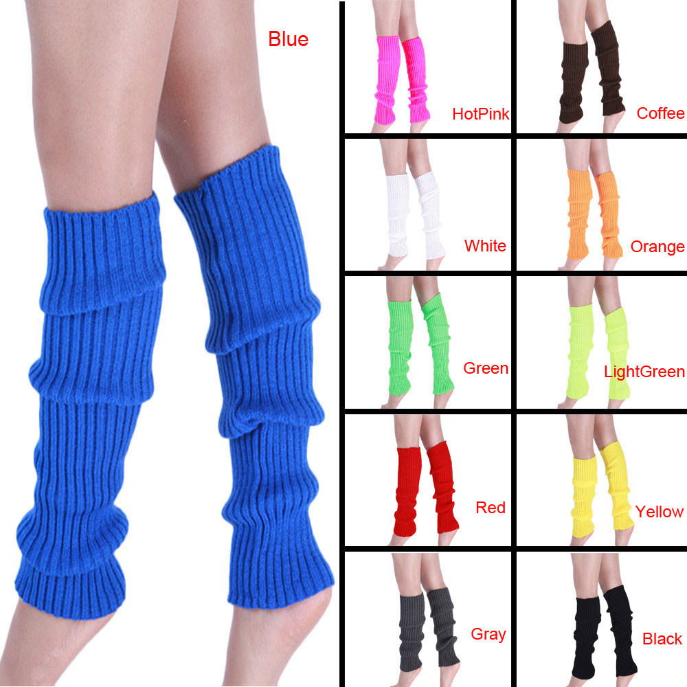 2017 Hot Sale Stretch Fabric Women Winter Thigh High Leg Warmers Solid Classic Plain Knitted Crochet Long Socks Warm Boots Socks