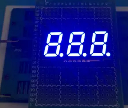 SMD 3 Bit 0.56 inch Digital Tube LED Display blue Light 7 Segment Common Anode 10PCS