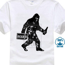 aa62a265 Design Style New Fashion Bigfoot Drinking Beer T Shirt Funny Sasquatch  Phish Craft Cool Novelty Tee