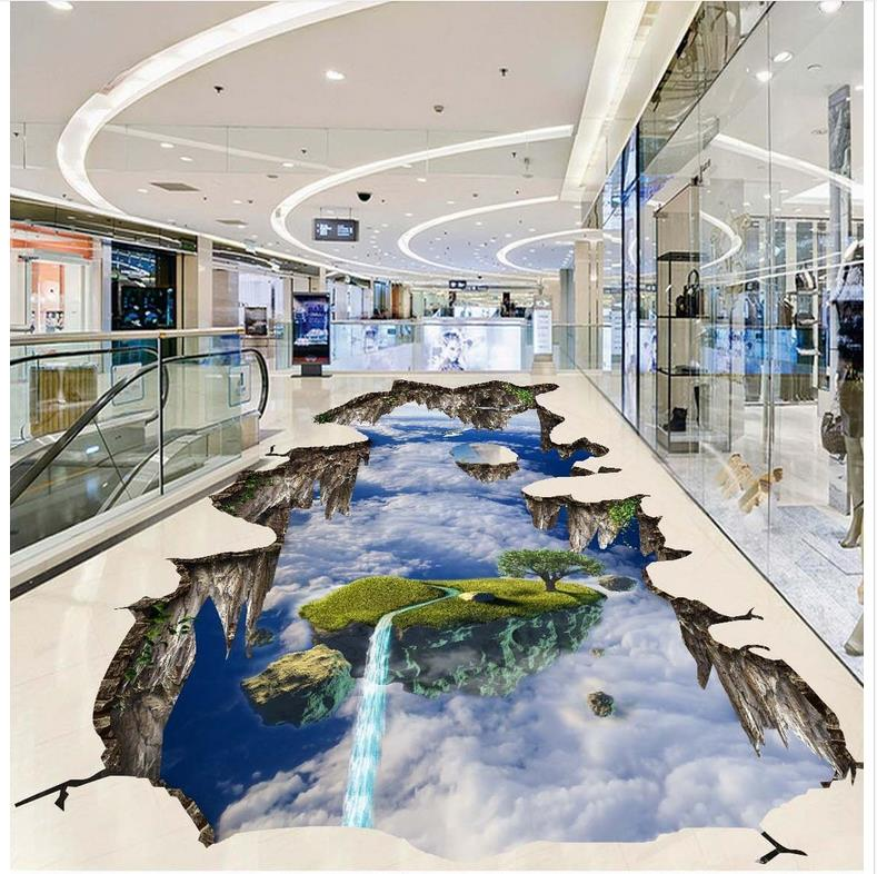 Aliexpresscom  Buy 3D extend space sky 3d floor stickers Custom Photo self adhesive 3D floor