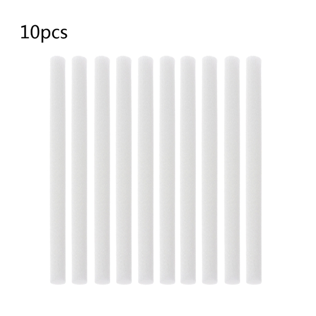 10Pcs 8mmx130mm Humidifiers Filters Cotton Swab for Humidifier Aroma Diffuser Humidifier Replacement