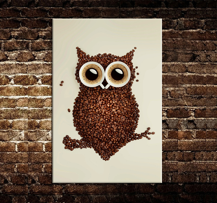 Canvas Design Ideas canvas quote 12x16 never stop looking up stars moon hope Hot Sell Beauty Modern New Idea Designcoffee Beans And An Owl Canvas Print