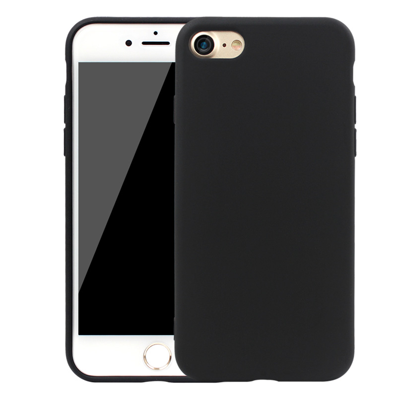 huge selection of 1e95c 586d7 Black Matte Rubber Durable Phone Cases for iPhone 6 6s Plus 5 5s SE  Shockproof Silicone Back Cover for iPhone 7 7Plus 6 6s Coque-in Fitted  Cases from ...
