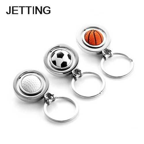 LLavero de llavero de Golf de baloncesto giratorio de deportes 3D llavero de bola llavero de estilo de verano regalos accesorios de llave de coche