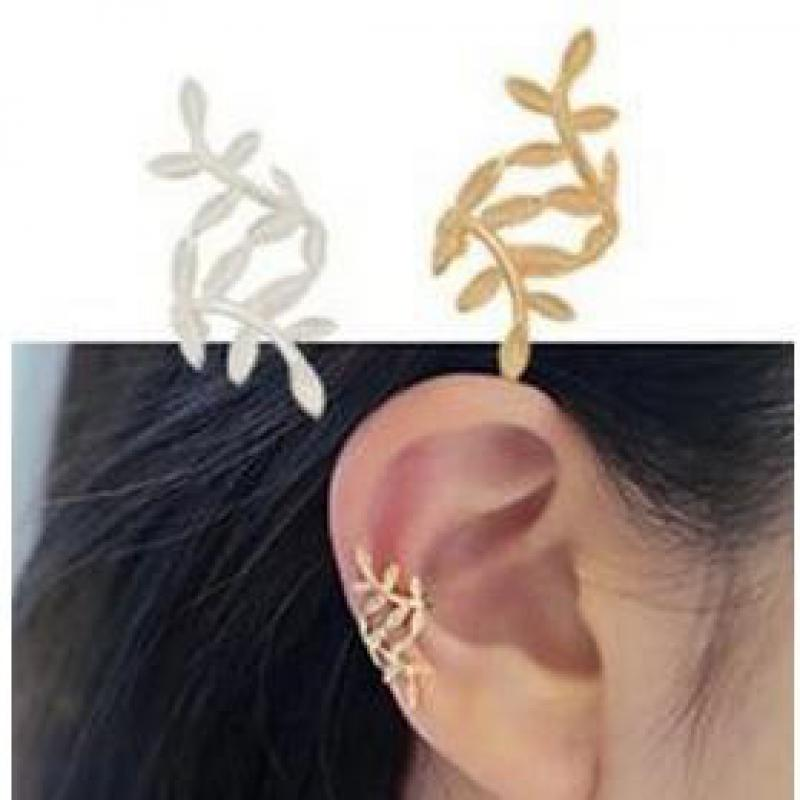 1pc Ms. Wholesale Europe And The United States Fashion Retro Spread Leaves Ear Clip Earrings Punk Temperament Without Ear Hole