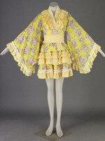 Cosplay animation vêtements en gros lolita culture-lolita dress chargé 14 generation-yellow-h105
