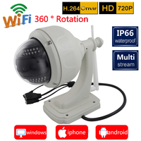 IP Камера HD 720 P открытый ptz Wi Fi Водонепроницаемый 4x зум Автофокус P2P панорамирования/наклона Беспроводной безопасности Системы поддержка Micro