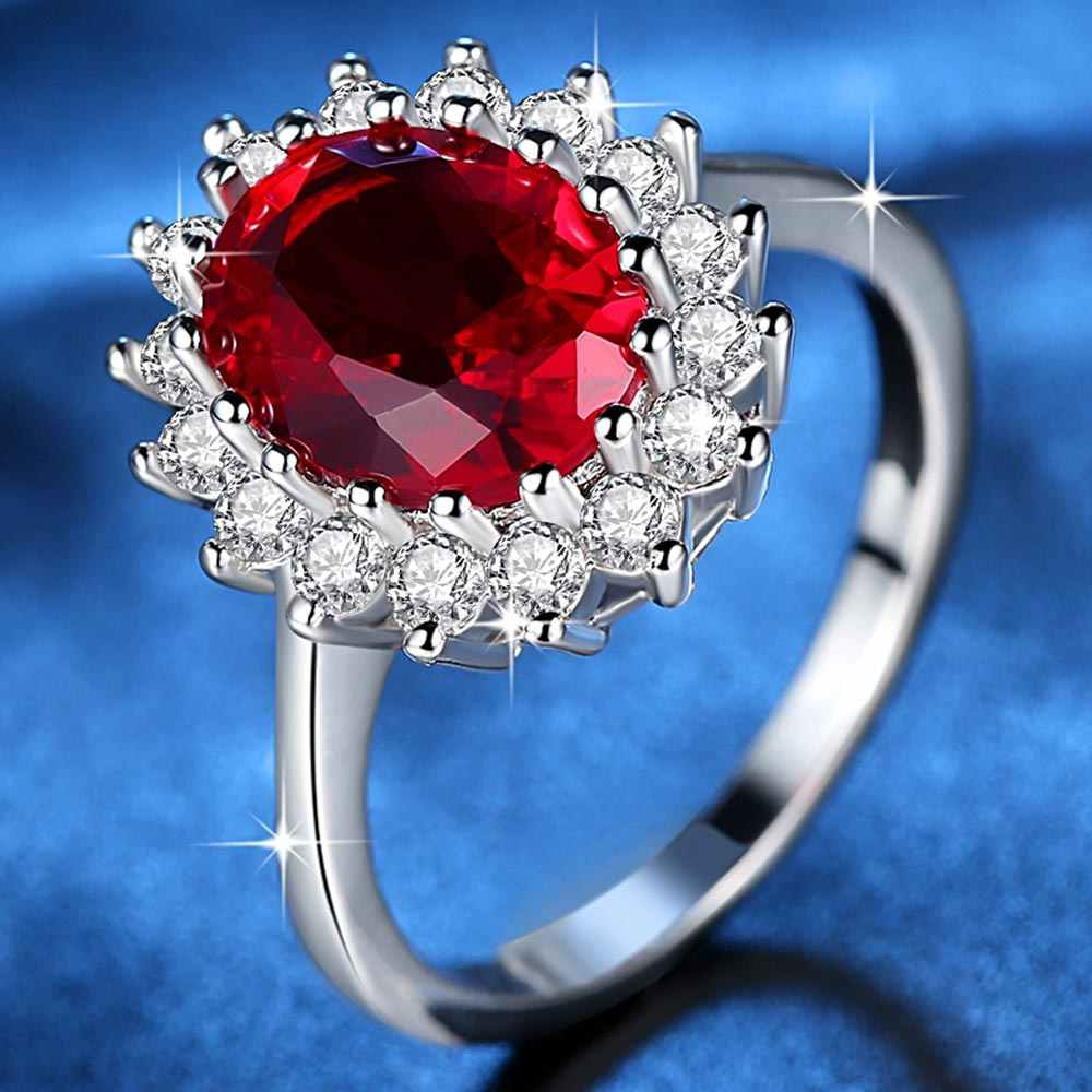 Beiver Fashion Flower CZ Wedding Rings for Women in Rhodium Plated 3 Colors AAA Cubic Zirconia Jewelry Girls Best Gifts