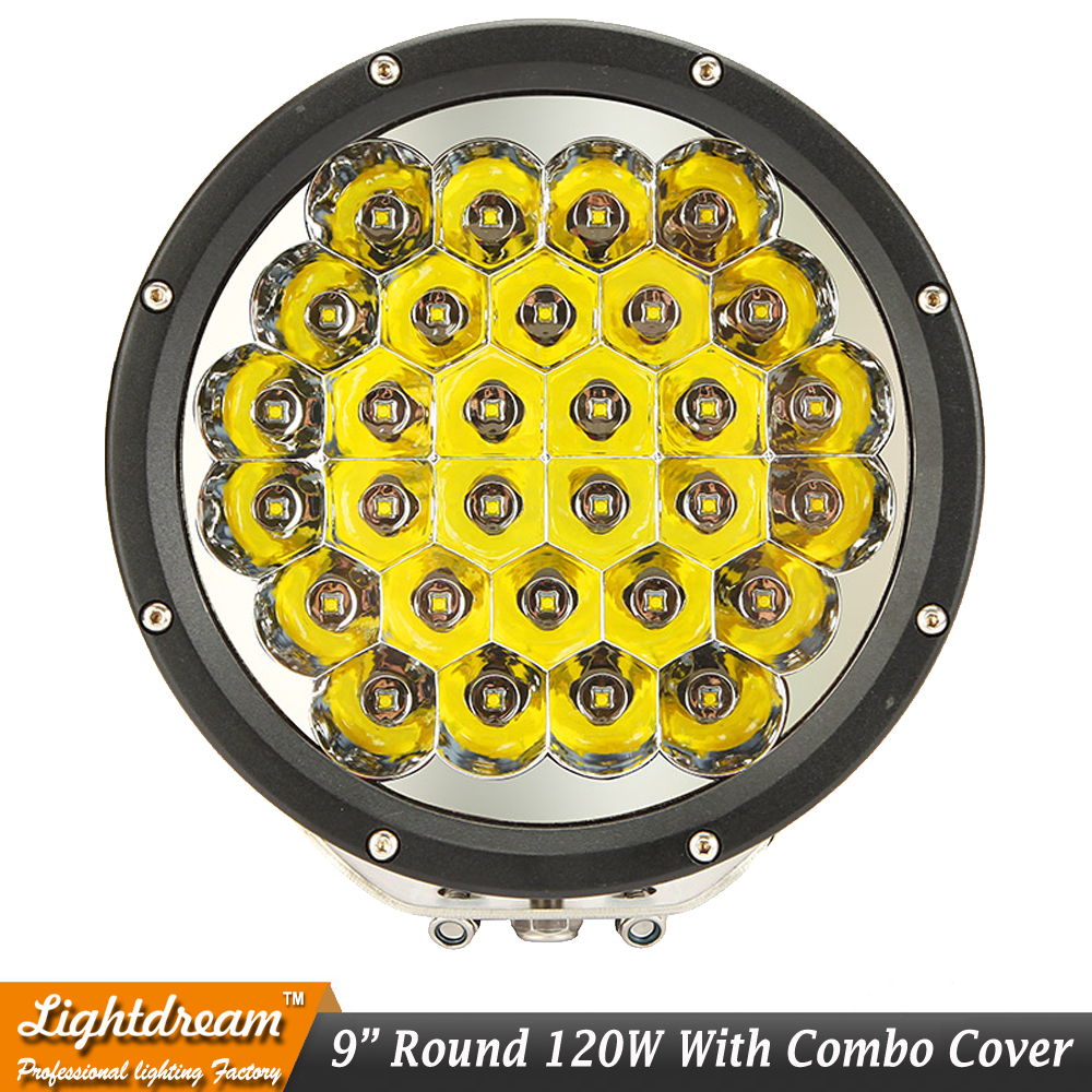 9inch Round LED Driving Light 30leds Black Red 150W Spot Light With Cover Fit 4X4 4WD Truck Barra UTE Van Combo/Spot Beam x1pc 2pcs truck light 4 leds lamp