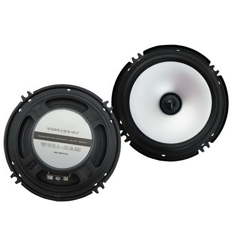 2pcs 6.5 Car Full Range Speaker Stereo Audio Subwoofer Loud 2x80w