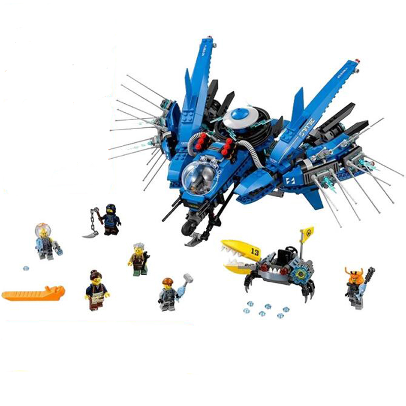 937pcs Ninja Series Building Blocks Lightning Jet Amine Fighter Model Bricks Toys For Children Gifts Compatible Lepin 06050 lepin 70609 ninja series the manta ray bomber model building blocks set compatible education toys for children gifts