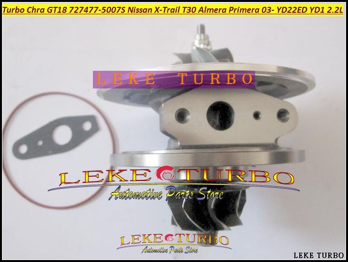Oil Cooled Turbo cartridge CHRA GT1849V 727477 727477-5007S 727477-0005 14411AW40A 14411-AW400 For Nissan X-Trail T30 2.2L 136HP turbo repair kit rebuild oil rhf4h vn3 14411 vk500 14411vk500 vb420058 for nissan navara frontier md22 2 5l x trail yd22eti 2 2l