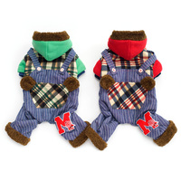 Winter New Dog Clothes Pet Cotton Clothes Cute Style Dog Clothes Coat Raccoon Pattern Puppy Costume