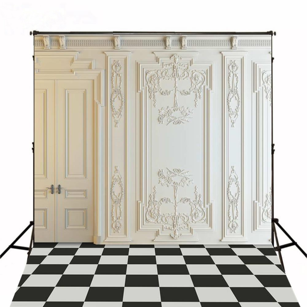 White  Vintage Door Frame Room Chess Wedding backdrop Vinyl cloth High quality Computer print wall Backgrounds for sale vintage castle retro medieval architecture stone bridge mountain backdrop vinyl cloth computer print wall backgrounds