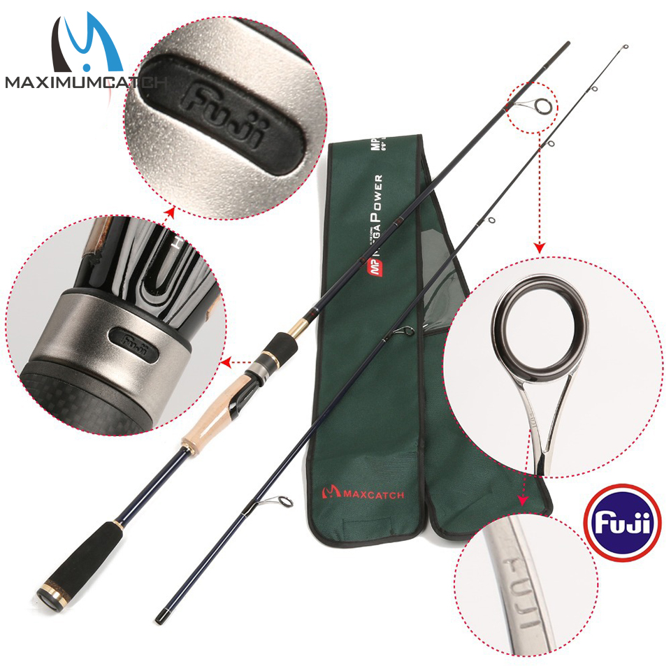 Maximumcatch 4-8LB Line Weight Spinning Lure Fishing Rod 24T/IM 6 Carbon Fiber Megapower Spinning Rod