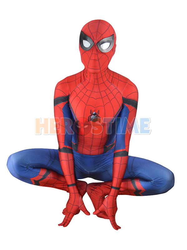 (SPD003Spider-Man Homecoming Costume New Spiderman Cosplay Suit Zentai Suit Superhero Costume