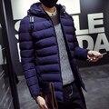 М-3XL 2016 Зима мода повседневная толстые тепловые parka мужчины slim fit зимняя куртка мужчины зимнее пальто мужчины куртка homme