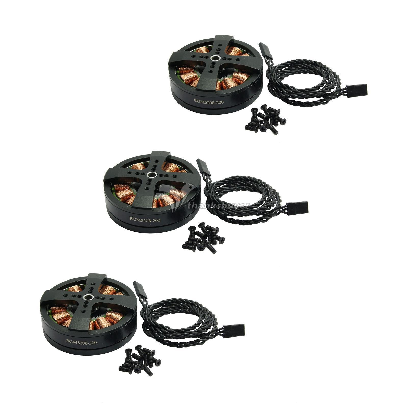 3 x DYS BGM5208-200 Gimbal Brushless Motors запчасти и аксессуары для радиоуправляемых игрушек 2015 3 ptz dys w 4108 evvgc nex ildc dys 3 axis