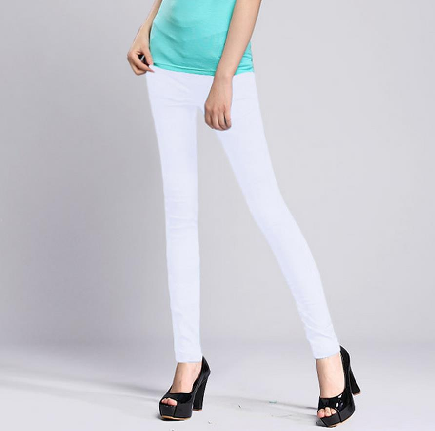 WOMENS SEXY SOLID STRETCH CANDY COLORED SLIM FIT SKINNY PANT TROUSERS Black white summer stretch thin stretch pants