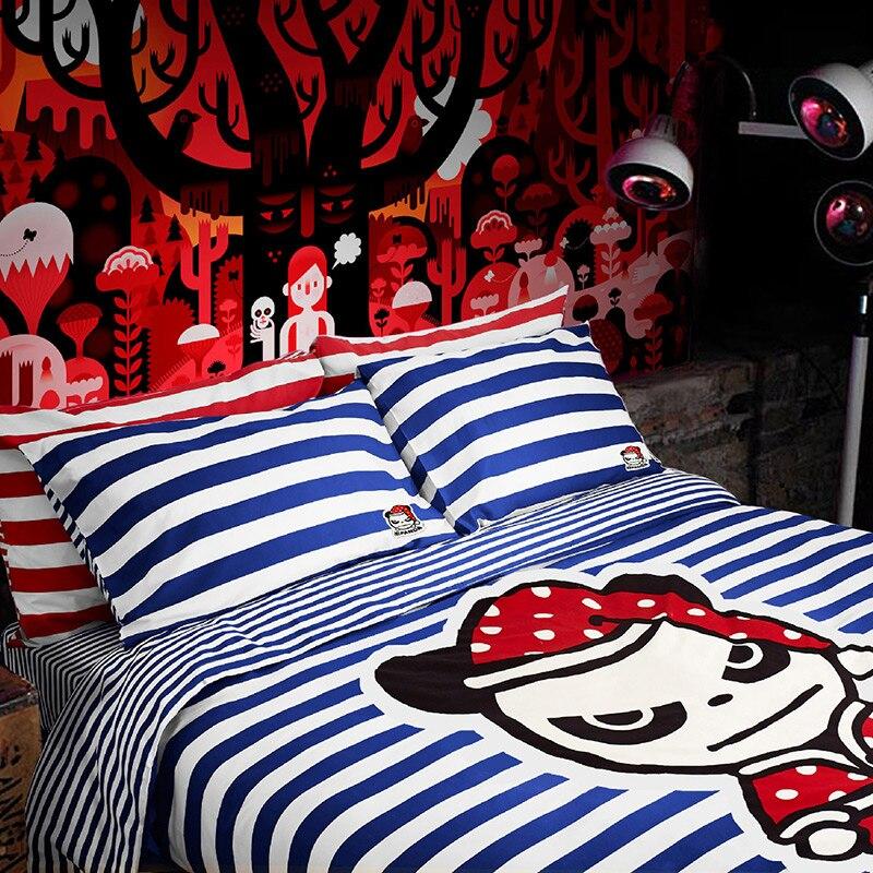 Brand100 % хлопок привет панда мультфильм комфортные постельные принадлежности bedclothe 4 шт./компл. одеяло пододеяльник простыня Одеяло Подушка сл