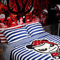 Brand100%Cotton HI PANDA Cartoon comfortable bedding set bedclothe 4pcs/set duvet quilt cover bed sheet bed cover pillow cases