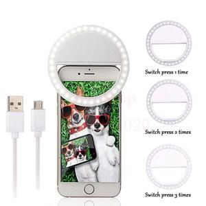 Image 1 - Lámpara de luz LED recargable portátil para fotografía, luz de Flash para Selfie, anillo de luz para teléfono, luz de vídeo nocturna, novedad de 2018