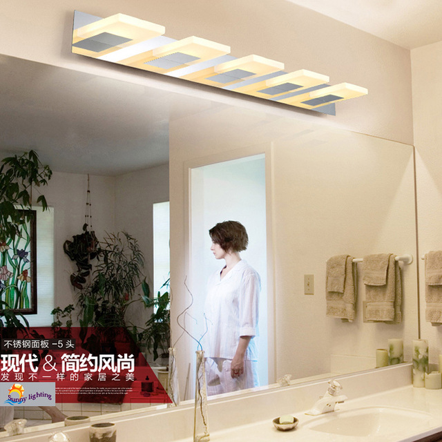 Bathroom 3-5 pcs acryl led wall fixtures lamp Led Bar indoor lighting bedroom wall Sconce front mirror light luminaria Wandlamp