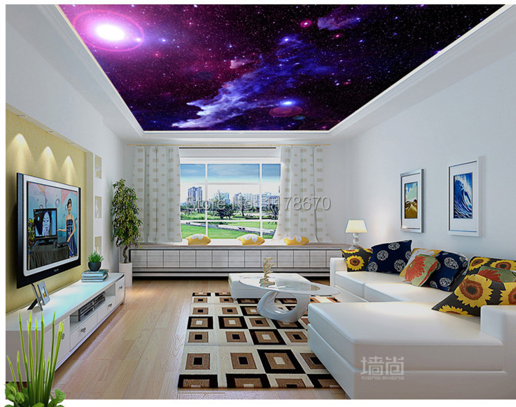 Photo collection custom galaxy star restaurant for Galaxy wallpaper for rooms